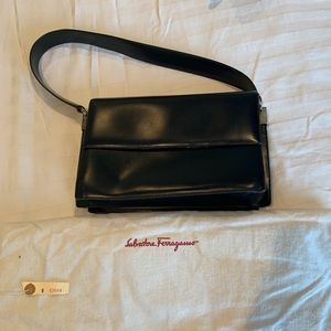 Vintage Ferragamo Top Handle Leather Bag
